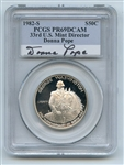 1982 S 50C Washington Silver Commemorative Half Dollar PCGS PR69DCAM Donna Pope