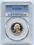 1972 S 25C Washington Quarter PCGS PR68