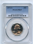 1972 S 25C Washington Quarter PCGS PR69