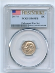 2017 S 10C Roosevelt Dime Enhanced PCGS SP69 First Strike