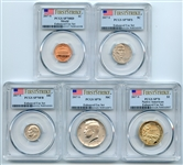 2017 S Enhanced Uncirculated Minor Set (5 coins) PCGS SP70 First Strike